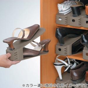 特価 靴 収納 くつホルダー 5個入り ( 靴ホルダー シューズラック シューズボックス ) livingut 05