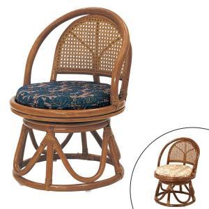 籐 ラタン コンパクト回転座椅子 ハイタイプ ( 送料無料 座椅子 チェア 椅子 )|livingut