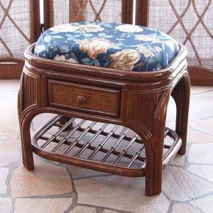 籐 ラタン 籐スツール 収納付き ( スツール 椅子 背もたれなし )|livingut