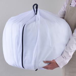 シングルサイズの布団が入る大容量サイズです。洗濯物の容量に合わせてふくらむので、シングルサイズの掛け...