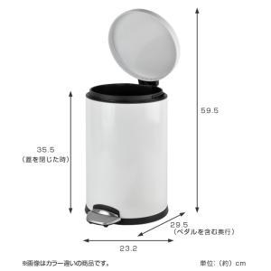 ゴミ箱 ペダル EKO ルナ ステップビン 8L ( ごみ箱 ダストボックス おしゃれ ステンレス シンプル インナー付 洗える )|livingut|04