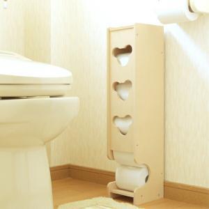 トイレ収納 トイレラック スリムタイプ ( トイレットペーパー ペーパーラック 収納 コーナーラック ペーパーストッカー 5個収納 )の写真
