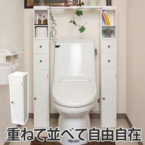 トイレ収納 スタッキングdeトイレ収納扉 ( トイレ用品 収納 コーナーラック ペーパー収納 トイレ...