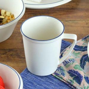 マグカップ 270ml コンコード ブルーライン 洋食器 陶器 ( 食器 硬質陶器 コップ カップ マグ タンブラー )|livingut