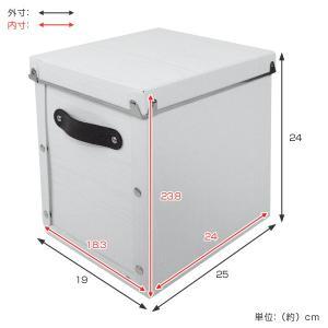 収納ボックス フタ付き 縦型 約 幅19×奥行25×高さ24cm 木目調 アンティークスタイル ( 収納ケース 収納 カラーボックス インナーボックス )|livingut|04