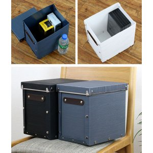 収納ボックス フタ付き 縦型 約 幅19×奥行25×高さ24cm 木目調 アンティークスタイル ( 収納ケース 収納 カラーボックス インナーボックス )|livingut|06