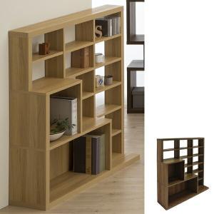 オープンラック ディスプレイラック セパルテック 幅110cm ( ラック 収納棚 収納ラック デザイン 木製 木目 おしゃれ 個性的 ) livingut