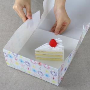 ケーキボックス ケーキ型 フラット 18cm用 フラワー 日本製 ( お菓子 ラッピング デコレーションケーキ 箱 製菓グッズ )|livingut|05