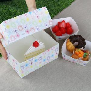 ケーキボックス ケーキ型 フラット 18cm用 フラワー 日本製 ( お菓子 ラッピング デコレーションケーキ 箱 製菓グッズ )|livingut|06