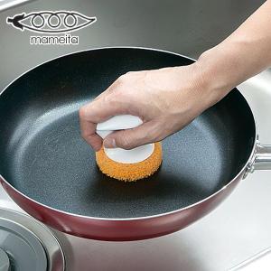 手にピタ 鍋・フライパン洗い ( 油汚れ 焦げ付き ナベ キッチン 束子 タワシ たわし 掃除 清掃 ) livingut