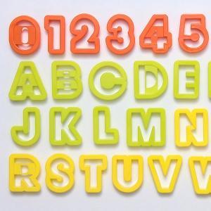 クッキー型 抜き型 アルファベット 数字 36個セット プラスチック製 ( クッキー抜型 クッキーカッター 製菓グッズ 抜型 ) livingut 02