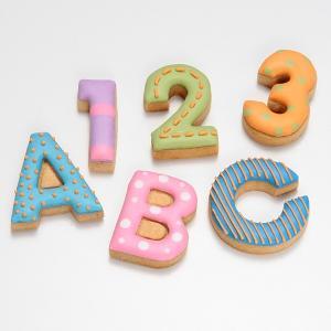 クッキー型 抜き型 アルファベット 数字 36個セット プラスチック製 ( クッキー抜型 クッキーカッター 製菓グッズ 抜型 ) livingut 04