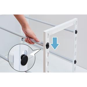 収納棚 ファビエ シンク下伸縮式ラック ワイド 組立式 ( シンク下収納 キッチン収納 収納棚 整理棚 ) livingut 05