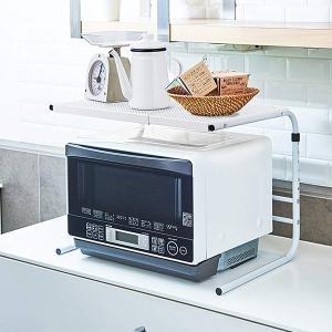レンジ上ラック ファビエ 電子レンジラック 伸縮式 幅・高さ伸縮タイプ ( キッチン収納 レンジ上収納 収納棚 伸縮タイプ )の写真