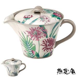 ポット 320ml 撫松庵 和食器 日本製 ( 急須 ティーポット 陶器 食器 瀬戸焼 電子レンジ対応 )|livingut