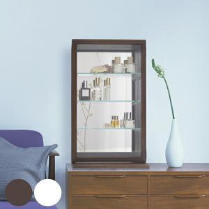 コレクションケース ガラスケース スカーラT 幅35cm ( キャビネット コレクション ラック ガラス 収納 シンプル 棚 完成品 ) livingut