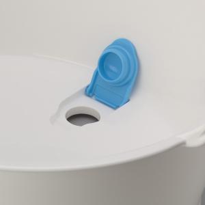 ウォッシュタブ 12L タライ 洗濯用 排水栓付き 楕円形 オーバル型 洗い桶 持ち手付き ( たらい バケツ バスケット )|livingut|04