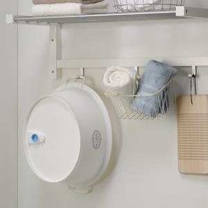 ウォッシュタブ 12L タライ 洗濯用 排水栓付き 楕円形 オーバル型 洗い桶 持ち手付き ( たらい バケツ バスケット )|livingut|06