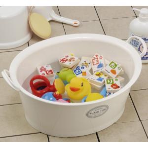 ウォッシュタブ 12L タライ 洗濯用 排水栓付き 楕円形 オーバル型 洗い桶 持ち手付き ( たらい バケツ バスケット )|livingut|07