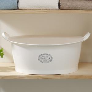 ウォッシュタブ 12L タライ 洗濯用 排水栓付き 楕円形 オーバル型 洗い桶 持ち手付き ( たらい バケツ バスケット )|livingut|09