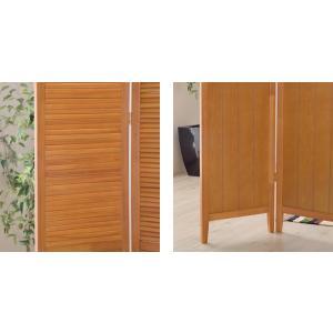スクリーン パーテーション 3連 衝立 木製 ...の詳細画像4