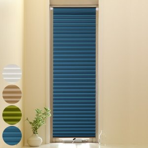 断熱スクリーン 小窓用断熱スクリーン 幅35×丈135cm 突っ張り棒付き ハニカムシェード ホワイ...
