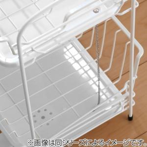 水切りラック 水切りバスケット 2段 ホワイト ブランス Blance ( 水切りカゴ 水切りバスケット ディッシュラック )|livingut|05