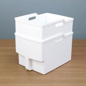 キッチン収納ケース 吊り戸棚ボックスワイド 幅24cm ( 収納ボックス 整理ケース 取っ手付き ) livingut 14