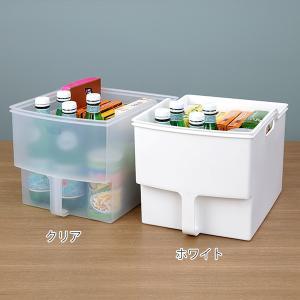 キッチン収納ケース 吊り戸棚ボックスワイド 幅24cm ( 収納ボックス 整理ケース 取っ手付き ) livingut 03