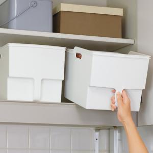 キッチン収納ケース 吊り戸棚ボックスワイド 幅24cm ( 収納ボックス 整理ケース 取っ手付き ) livingut 06