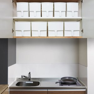 キッチン収納ケース 吊り戸棚ボックスワイド 幅24cm ( 収納ボックス 整理ケース 取っ手付き ) livingut 08
