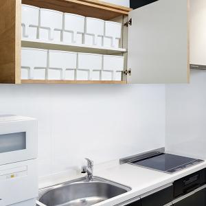 キッチン収納ケース 吊り戸棚ボックスワイド 幅24cm ( 収納ボックス 整理ケース 取っ手付き ) livingut 09