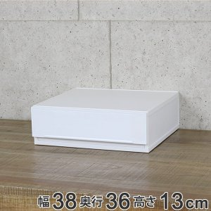 収納ケース 幅38×奥行36×高さ13cm コレクトケース Sワイド 1段 squ+  ( 収納 収納ボックス 引き出し )|livingut