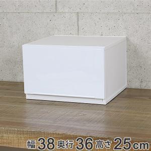 収納ケース 幅37×奥行35×高さ25cm コレクトケース Lワイド 1段 squ+ ( 収納 収納ボックス 引き出し )の写真