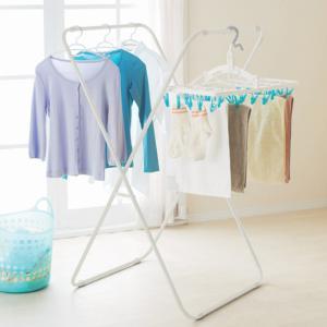 室内物干し PORISH スリム物干し X型 ( 洗濯物干し 室内干し 部屋干し )|livingut