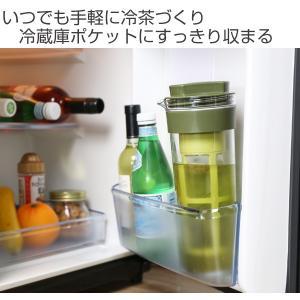 冷水筒 スリムジャグ 1.1L 茶漉し付き 横置き 縦置き 耐熱 茶漉しフィルター 冷茶 日本製 ( ピッチャー 茶こし 麦茶 冷水ポット 麦茶ポット )|livingut|02