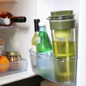 冷水筒 スリムジャグ 1.1L 茶漉し付き 横置き 縦置き 耐熱 茶漉しフィルター 冷茶 日本製 ( ピッチャー 茶こし 麦茶 冷水ポット 麦茶ポット )|livingut|07