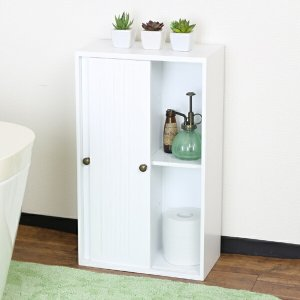 トイレ収納 引き戸式スリムトイレラック 幅32cm ( トイレ 収納 スリム )の写真