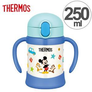 子供用水筒 サーモス thermos 真空断熱ベビーストローマグ ミッキー 250ml FHV-250DS ステンレス製 ( ステンレスマグ ストロー付 トレーニングマグ )|livingut