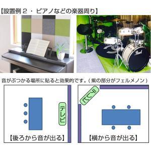 吸音材 吸音パネル フェルメノン エクシード 45度カット 40×40cm 6枚セット 吸音 防音 ( パネル ボード 吸音ボード )|livingut|10