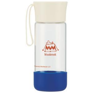 水筒 耐熱ガラス製 スタイリッシュボトル スヌーピー ともだち 400ml カバー付き ( ガラス製 ウォーターボトル マグボトル ) livingut 02