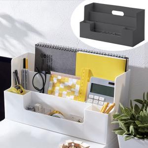 ライフモデュール 卓上整理ボックス A4 横 モノトーン ( 収納 ボックス 小物入れ ペン立て プラスチック )|livingut