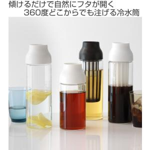 キントー KINTO 冷水筒 ピッチャー 耐熱 1L ガラス CAPSULE カプセル コールドブリュー 水差し  ( フィルター付き 食洗機対応 電子レンジ対応  )|livingut|02