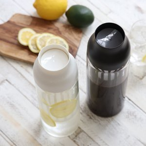 キントー KINTO 冷水筒 ピッチャー 耐熱 1L ガラス CAPSULE カプセル コールドブリュー 水差し  ( フィルター付き 食洗機対応 電子レンジ対応  )|livingut|05