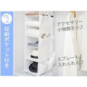 吊り下げ収納 6段 衣類 小物収納 幅23×奥行30×高さ80cm クローゼット収納 ( 衣類 収納 整理 )|livingut|05