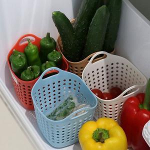 キッチン収納ケース 野菜室・冷凍庫収納バスケット 4色組 当店オリジナル