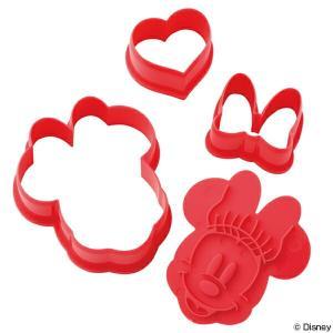 クッキー型 ミニーマウス 3個入り プラスチック製 抜き型 キャラクター ( クッキー抜き型 クッキーカッター 型 抜型 弁当 クッキー )|livingut