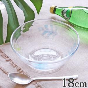 ボウル 18cm モンステラ ガラス 中鉢 食器 日本製 ( デザート 鉢 皿 器 うつわ サラダボウル )|livingut