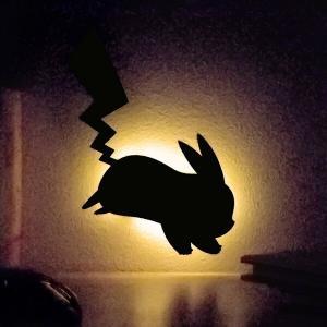 LEDライト ポケットモンスター ポケモン ウォールライト ピカチュウ ( LED 照明 壁掛け 足元灯 フットライト 音感 センサー )|livingut
