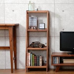 オープンラック 4段 シェルフ 天然木 エスニック調 UMBER 幅40cm  ( ラック 収納 棚 収納棚    )|livingut
